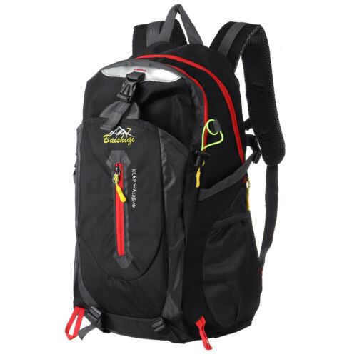 40L Large Waterproof Backpack Rucksack Outdoor Sport Hiking Camping Daypack Bag