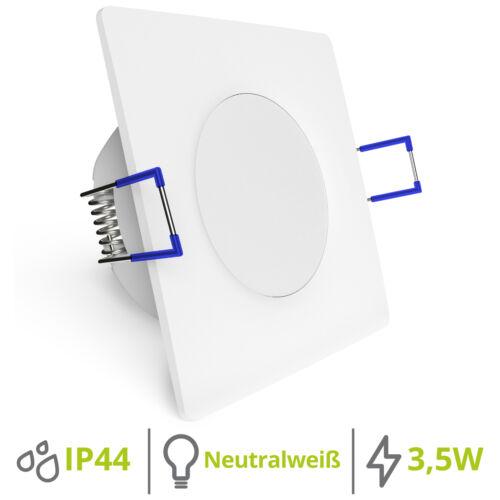 linovum® LED Einbaustrahler WEEVO eckig 3,5W 4000K 230V IP44 extra flache 29 mm