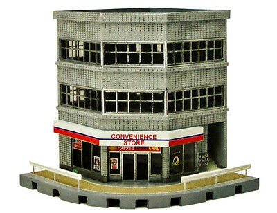 Tomytec (Building 133) Corner Commercial Building A 1/150 N scale