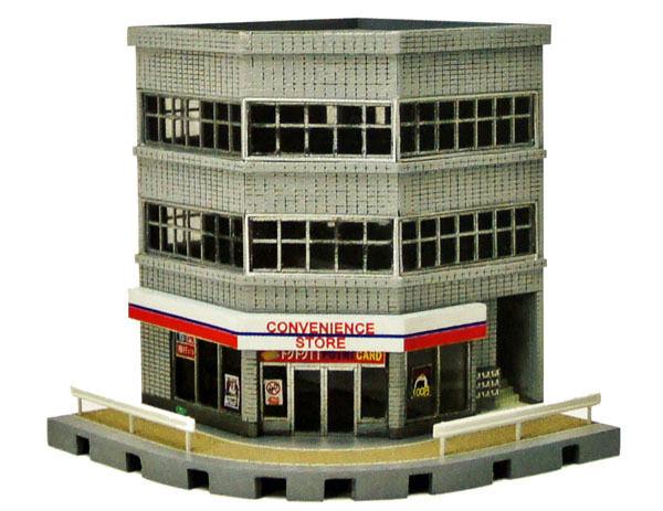 Tomytec (Building 133) Corner Commercial Building A 1/150 N scale