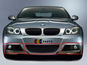 Nuevo-Original-BMW-E90-E91-3-SERIE-M-SPORT-08-11-LCI-Parachoques-Delantero-Parrilla-Inferior-Juego