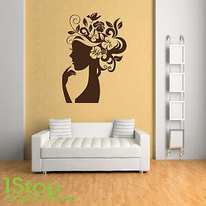 Image is loading WOMEN-SILHOUETTE-WALL-STICKER-BEDROOM-LOUNGE-WALL-ART- 6a90d0cdb0