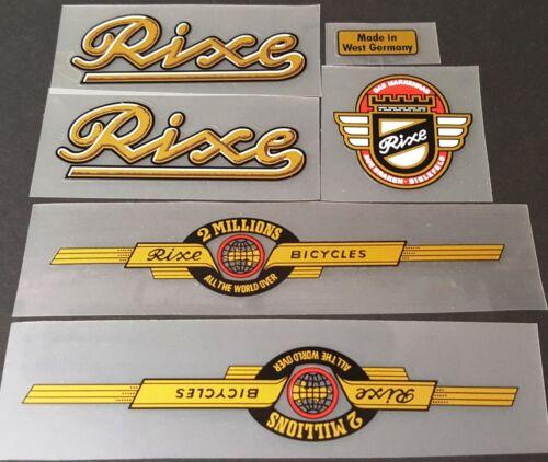 Rixe Bicycle Decal Set sku 10785