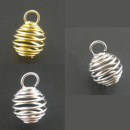 "3//8/"" M1767 100 PCs Spring Bead Cages Pendants 8x9mm"
