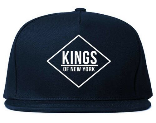 KINGS OF NY Diamond Logo Printed Snapback Hat Cap Red Black One Size New York