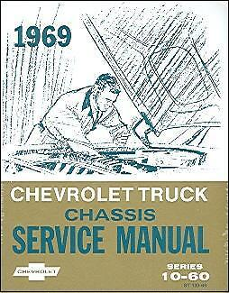1969  69    CHEVROLET TRUCK SHOP MANUAL-SERIES 10-60