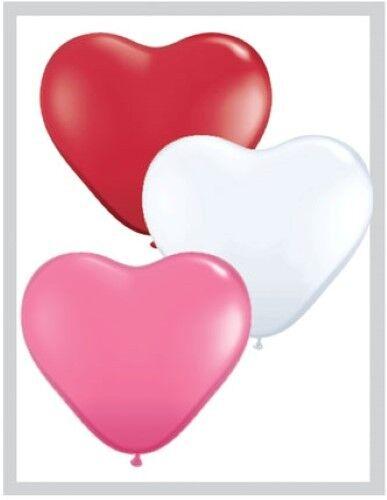 2 2 Anuncios Paquete De 6 Qualatex 15.2cm Forma Corazón Látex Globos Fiesta