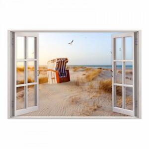 152 Wandtattoo Fenster Ostsee Strandkorb Maritim