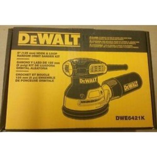 "NEW DEWALT DWE6421K 5/"" ELECTRIC 3.0 AMP RANDOM ORBITAL PALM SANDER KIT WITH BAG"