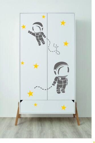 Les astronautes Wall Stickers Armoire Décalque Vinyle Art Chambre décor enfants bébé