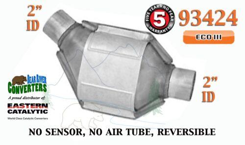 "93424 Eastern Universal Catalytic Converter ECO III Catalyst 2"" Pipe 8"" Body"