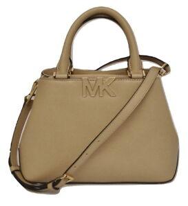 2d86e9eb57 Michael Kors FLORENCE Small Satchel MK Logo Handbag Bag Bisque  298 ...