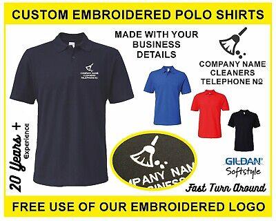 Workwear Top Personalised Business Name Phone No Custom Printed Polo Shirt