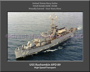 USS Spruance DD 963 Personalized Canvas Ship Photo Print Navy Veteran Gift