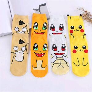 1Paire-Pokemon-Pikachu-Femmes-Enfant-Chaussettes-en-Coton