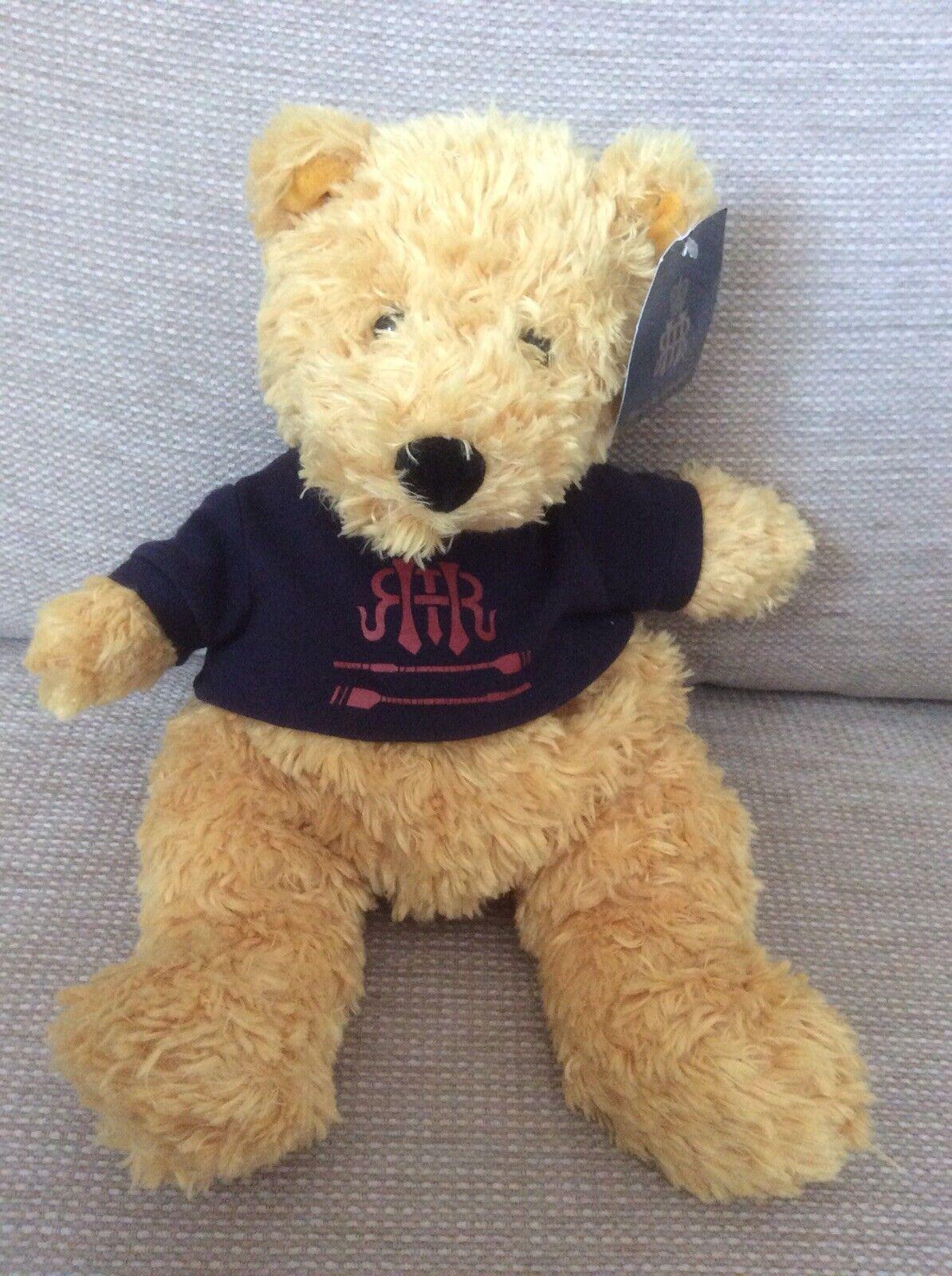 "HENLEY REGATTA TEDDY BEAR WITH TAG RETIRED JELLYCAT TOASTIE BEAR 12"" J392"