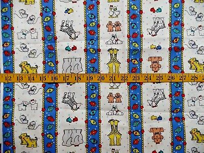 "Noah/'s Ark FAT QUARTER 18/""x22/"" Animals RAINBOW Nursery Fabric Cotton QUILTING"