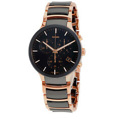 Rado Centrix Black Chronograph Dial High-Tech Ceramic XL Quartz Mens Watch