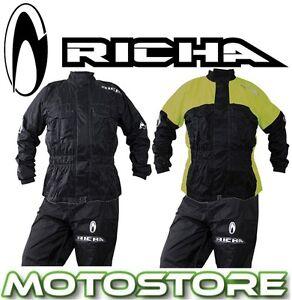 RICHA-RAIN-WARRIOR-2PC-PIECE-OVER-SUIT-WATERPROOF-MOTORCYCLE-RAIN-OVERALL-HI-VIS