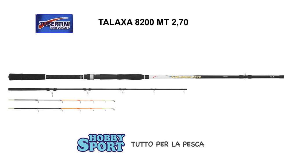 CANNA TALAXA 8200 TUBERTINI MT 2,70  AZ 400 GR  22 PEZZI PESCA BARCA  BOLENTINO