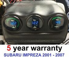 Triple Dash Gauge Pod Holder for Subaru Impreza 52mm dials WRX 01-07 Newage led