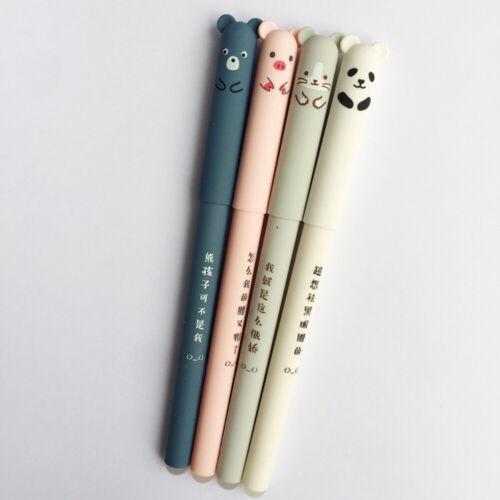 0.35mm Ballpoint School Writing Gel Ink Cartoon Erasable Pen Panda Cat Pig Bear