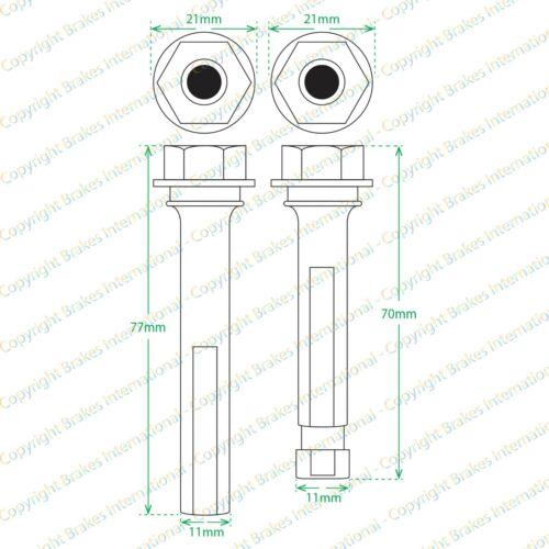 TOYOTA RAV4 RAV-4 MK4 2012-2019 FRONT BRAKE CALIPER SLIDER PIN KIT BCF1492B