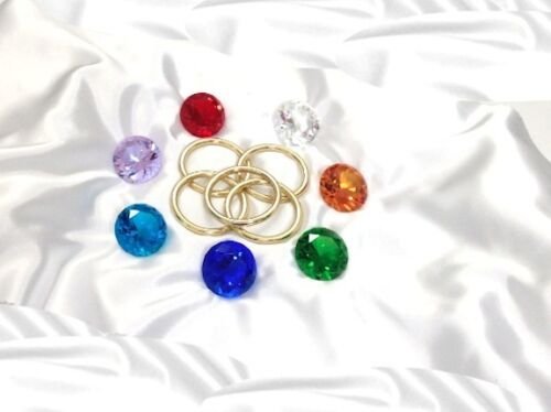 """/""""LARGE/"""" 7 Chaos Emeralds /& 5 Power Rings Sonic the Hedgehog Series"""