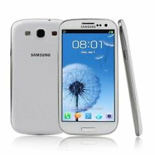 """Unlocked Samsung Galaxy S3 I9300 Android 4.8"""" Cell Phone GPS NFC 16GB 8MP White"""