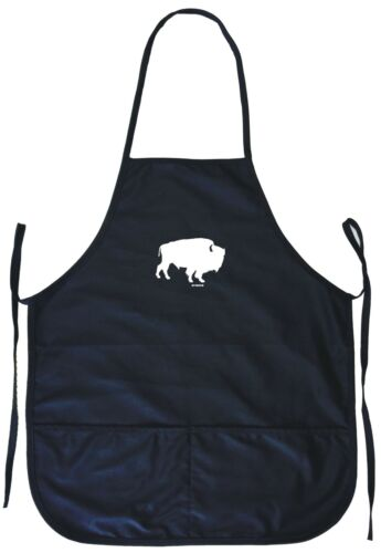 Buffalo Silhouette Logo Cooking Apron With Pockets