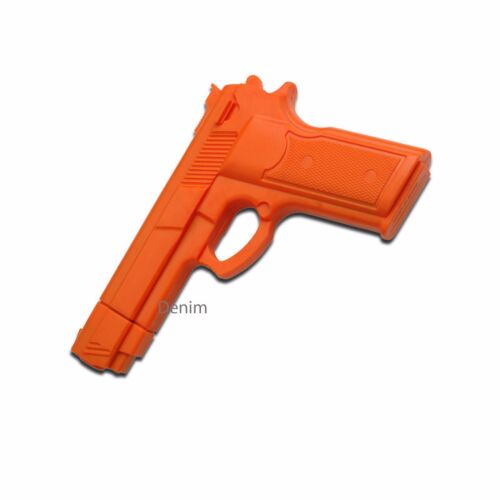 """7/"""" ORANGE RUBBER TRAINING GUN Police Dummy Non Firing Real And Look Feel"""