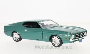 Ford-Mustang-sportsroof-metallic-verde-1971-1-24-Motormax-gt-gt-New-lt-lt