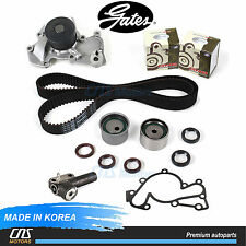 Gates Timing Belt Kit Hydraulic Tensioner Water Pump Fits 99-10 Hyundai Kia 2.7L