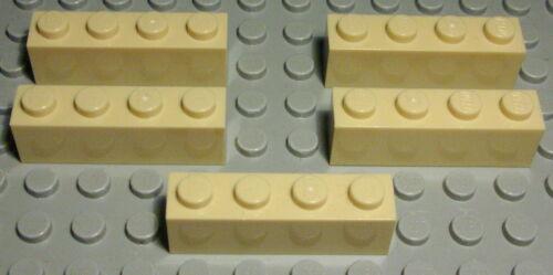 1249 Lego Brick 1x4 Beige 5 Piece