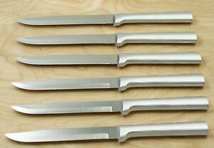 Rada R104 Set Of Six Utility Steak Knives Silver Handle