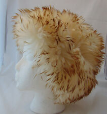 Vtg 60s DR. ZHIVAGO Chinchilla-Look Tuscan Lamb Fur Cossack Italy Hat XS S