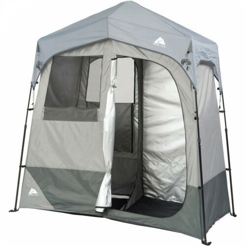 Ozark Trail 2-Room Camping Instant Shower//Utility Shelter Outdoor Privacy Tent