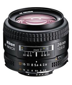 NIKON-AF-D-24mm-f2-8-Bellissimo-Pari-al-nuovo-100-Perfetto-AAAAAAAAAAA
