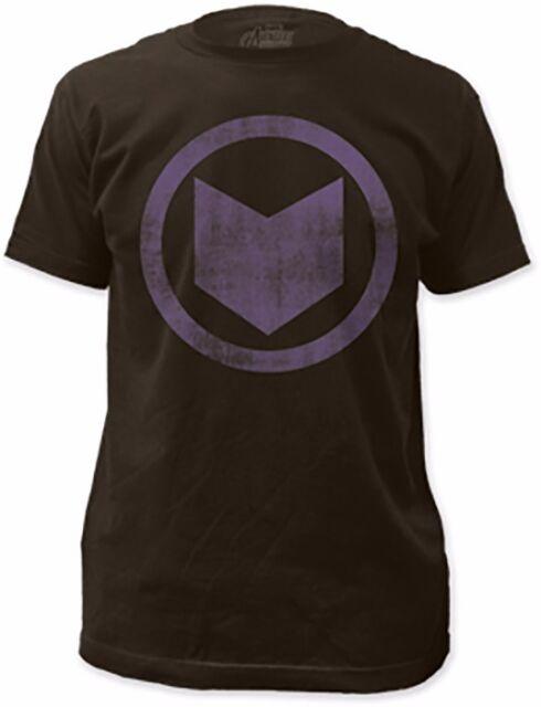 Avengers Hawkeye Distressed Symbol Marvel Comics Licensed Adult Shirt S-2XL