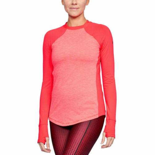 Under Armour UA ColdGear Reactor Ladies Marathon Red Sports Training Running Top
