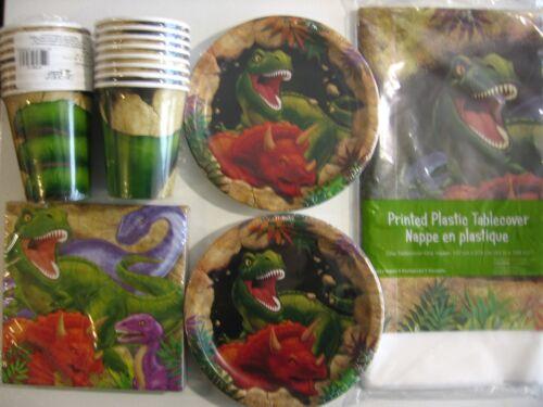 DINOSAUR Birthday Party Supplies Set Pack Kit 16  w// Loot Bags DINO BLAST