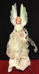 LED Christmas Angel Treetop Fiber Optic LED Figurine ...