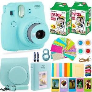 FujiFilm-Instax-Mini-9-Instant-Camera-40-Fuji-Film-Bundle-Kit