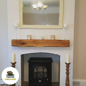 oak mantle fireplace beam rustic timber shelf mantelpiece with rh ebay co uk
