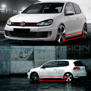 offer discounts best authentic nice shoes Details about GTI Style Side Skirts for VW Golf MK6 Fitment
