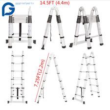 145ft Step Ladder Extension Telescoping Lightweight Portable Folding Telescopic