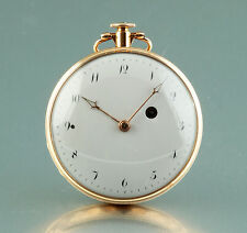 Large 18k gold Verge Fusee special repeater circa 1810 Spindeluhr montre coq
