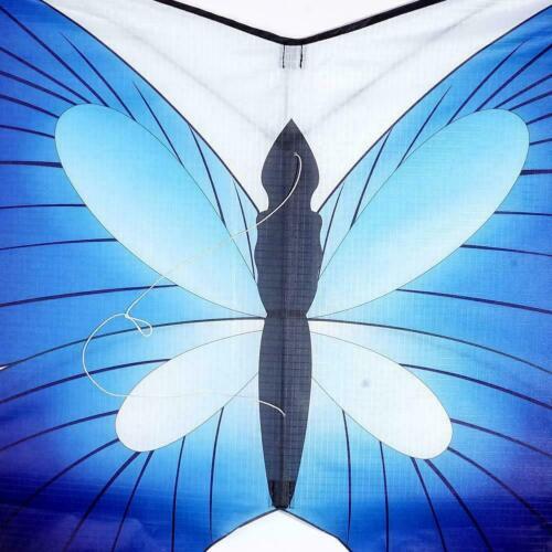 Blauer Schmetterling Drachen+30m Kite Line Single Line Erwachsene /& für Kin J0Q4