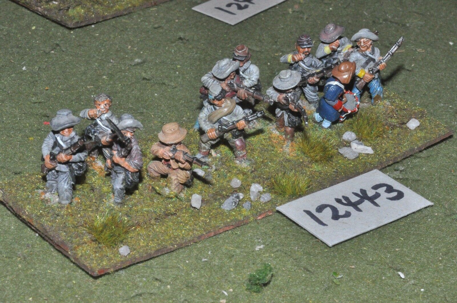 25mm ACW   confederate - american civil war infantry 12 figures - inf (12443)