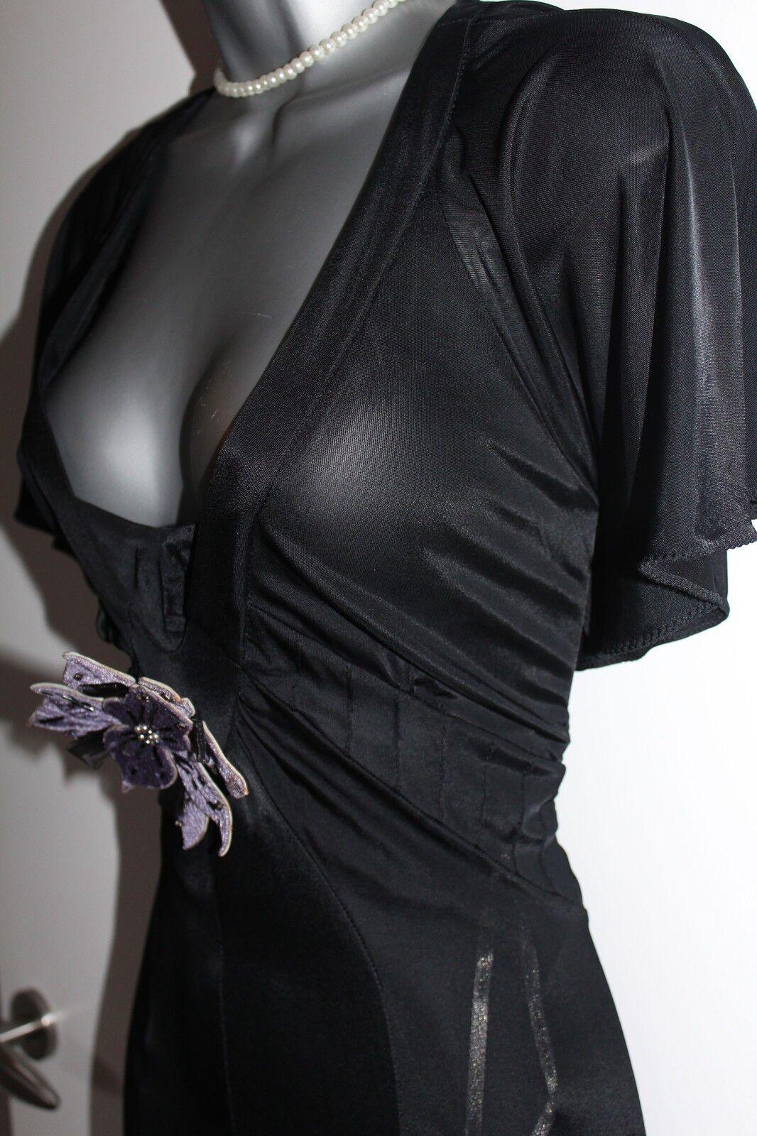 Karen Millen schwarz Butterfly Sleeve Floaty Evening Midi Dress sz-12 sz-12 sz-12 EU-40 0db1bd